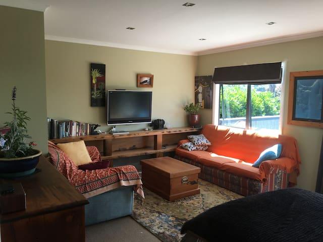 The studio lounge area