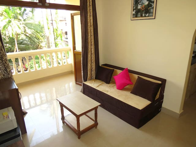 07) 1 Bed Apart Central Calangute Sleeps 2/4