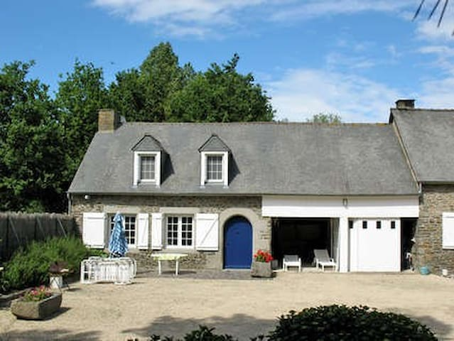 T3 dans propriété, étang,Piscine - Roz-Landrieux - Dům