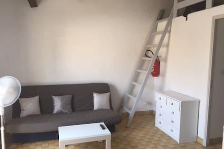 Beau studio cabine mezzanine 800 m de la mer AG066 - Agde - Chalet