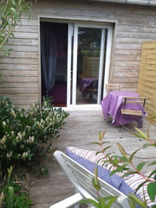 un espace terrasse privatif
