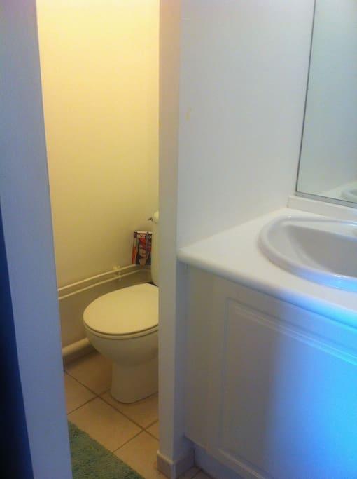 Salle d'eau:  coin WC