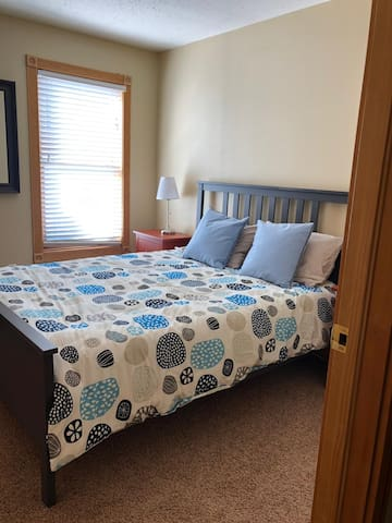 Our second bedroom has a queen bed