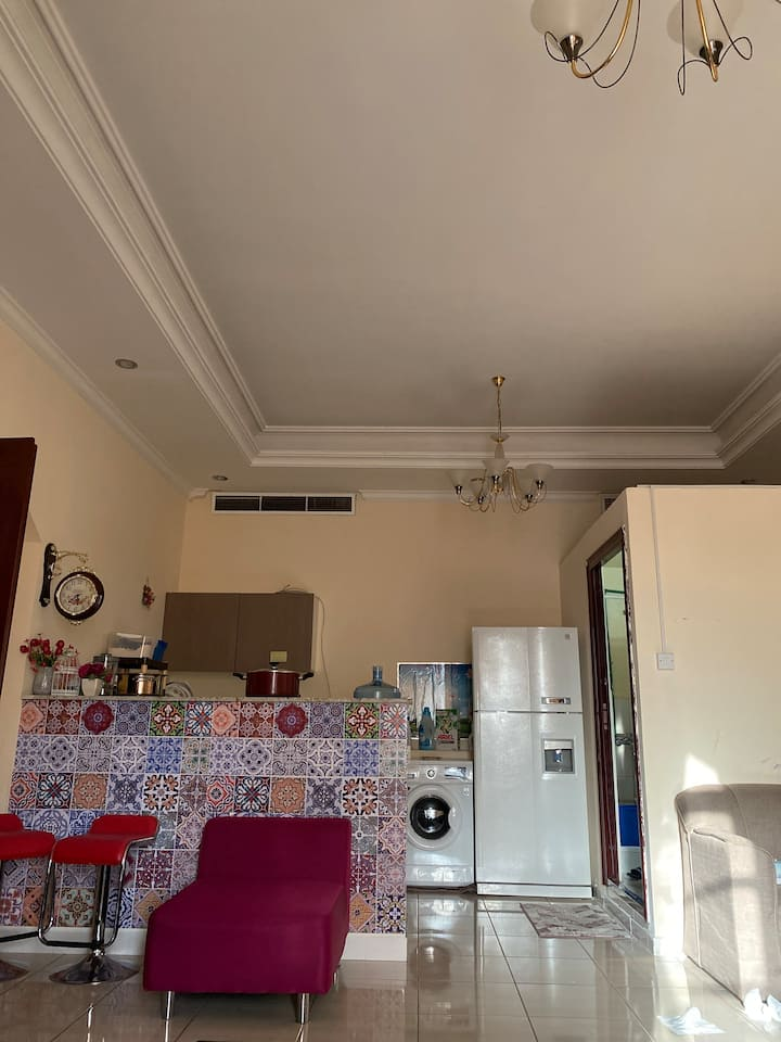 1 bhk sharing villa with kitchen private entrance