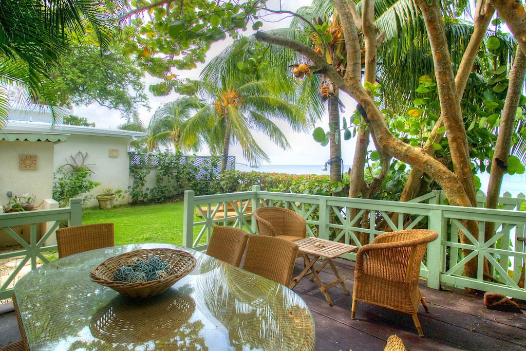 Private Garden Area leading  onto beach