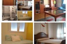 Algunos de los espacios del apartamento.