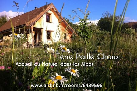Terre Paille Chaux, Bio-Eco-Lodge in French Alps - Mens - Earth House