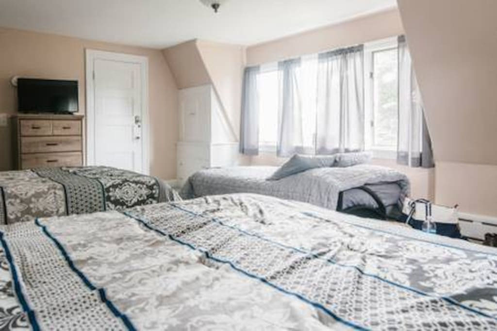 Room 7/ 2 Queen beds and a queen futon