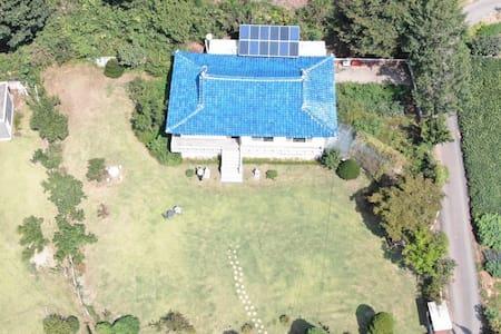 파주 전원주택 500평 별장 (바비큐,어린이수영풀장)
