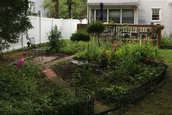 Calm, cozy, & close to town, & a wonderful garden!