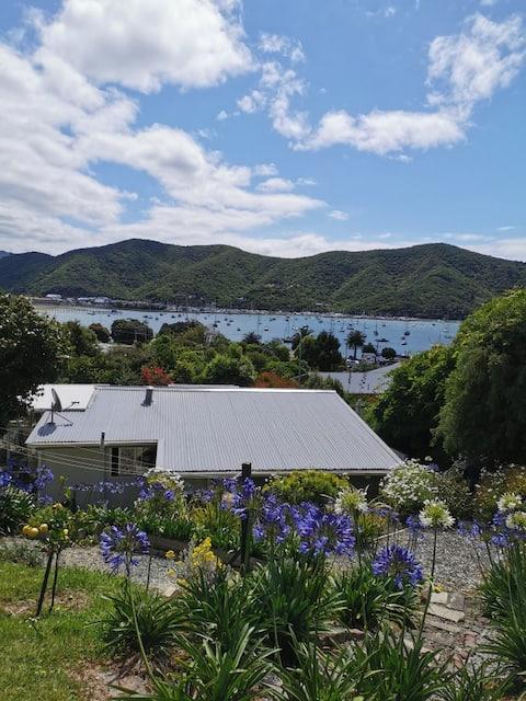 Views to Waikawa Bay, beach & boat ramp 200m away