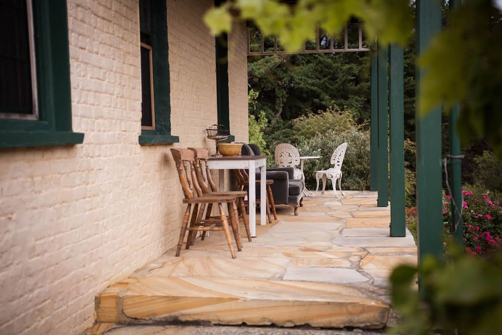 Find your spot on the wrap around verandahs to enjoy the grounds.