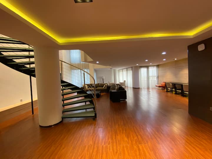 Penthouse includes jacuzzi,sauna,gym,swimming