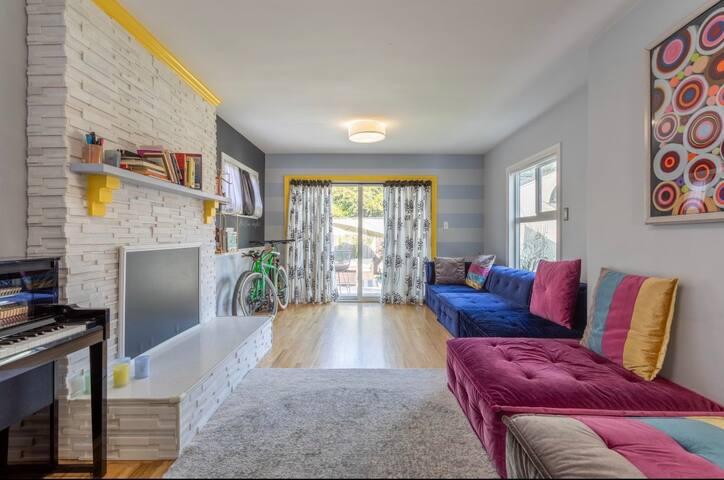 Artsy house- short term cozy  private room