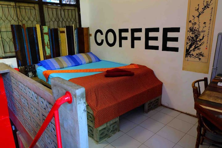 Thai 'COFFEE' Our 4 meter by 4 meter new queen suite with private walkout balcony.