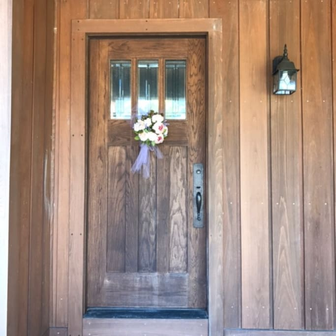 Come on in! Behind this door you'll find all you need for a welcoming, relaxing stay.