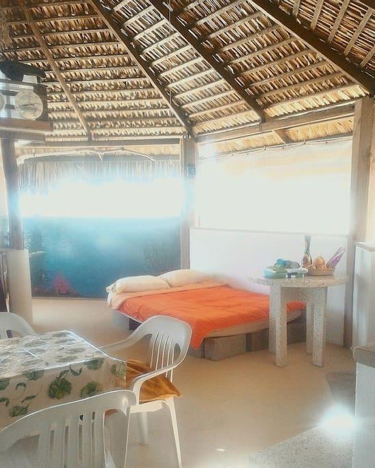 Beautiful sunny day, main room Palapa