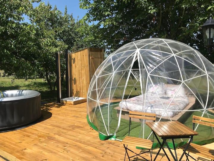 Chambre bulle avec spa  privé