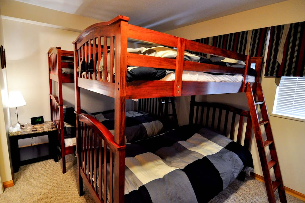 2nd bedroom with 2 adult bunk beds