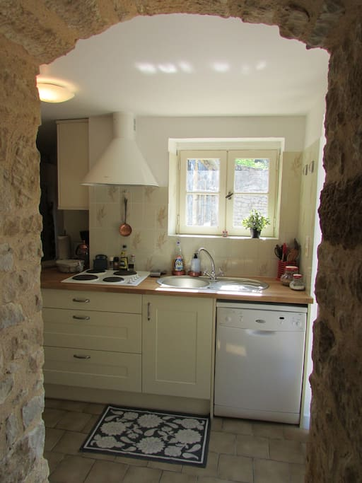 Kitchen--fully equipped for cooking all the favorite Perigord cuisine