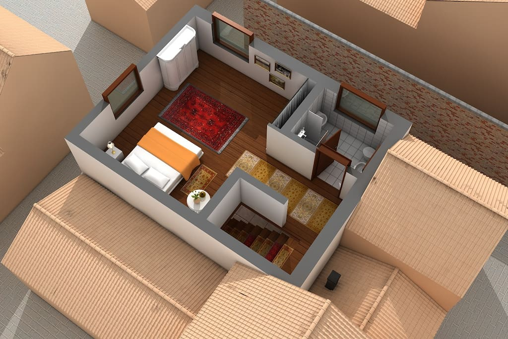 3D Floor Plan first floor