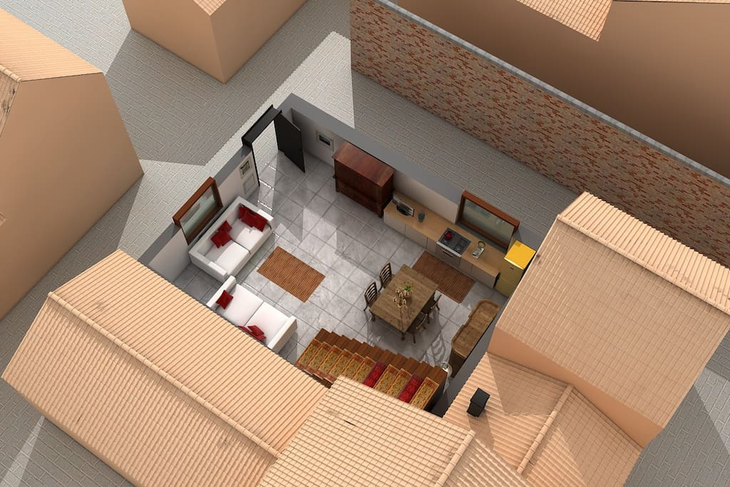 3D Floor Plan ground floor