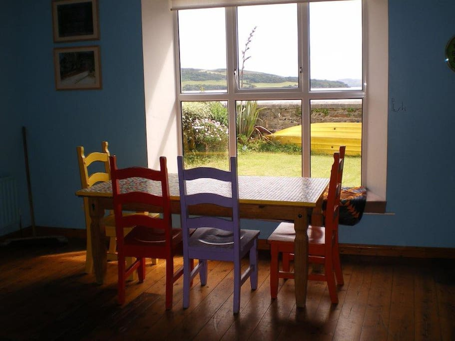 view from kitchen widow