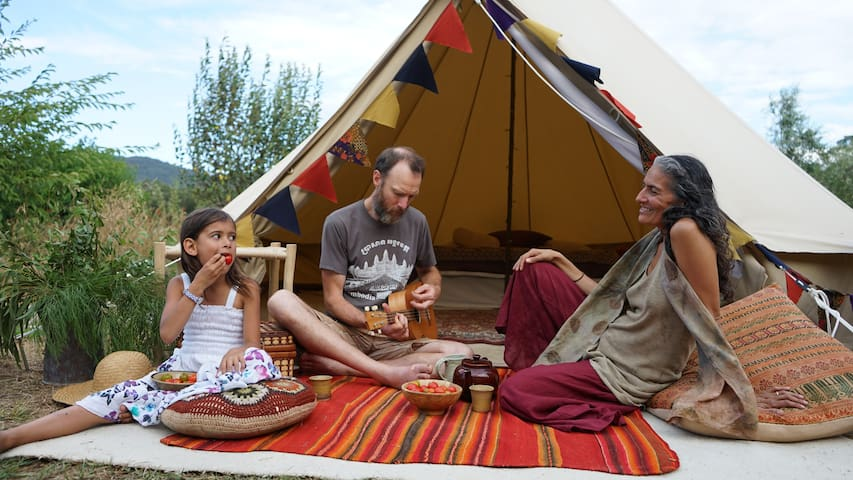 Majestic Bell Tent at PEACE Farm, Yarra Junction