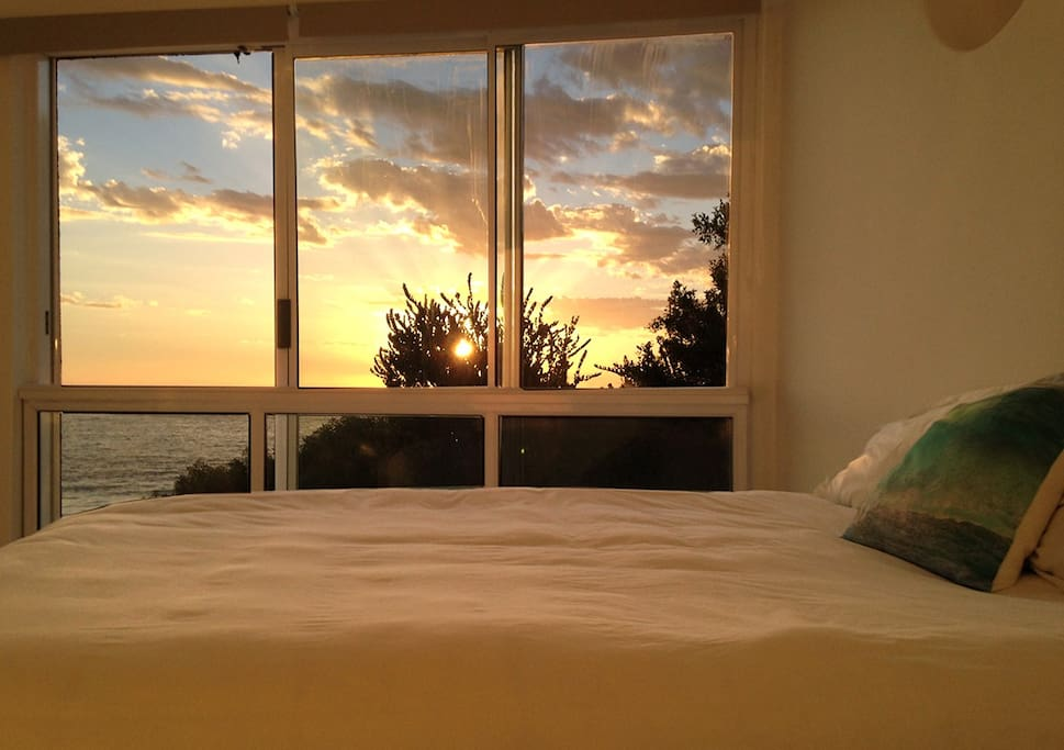 The ocean is right outside your bedroom!