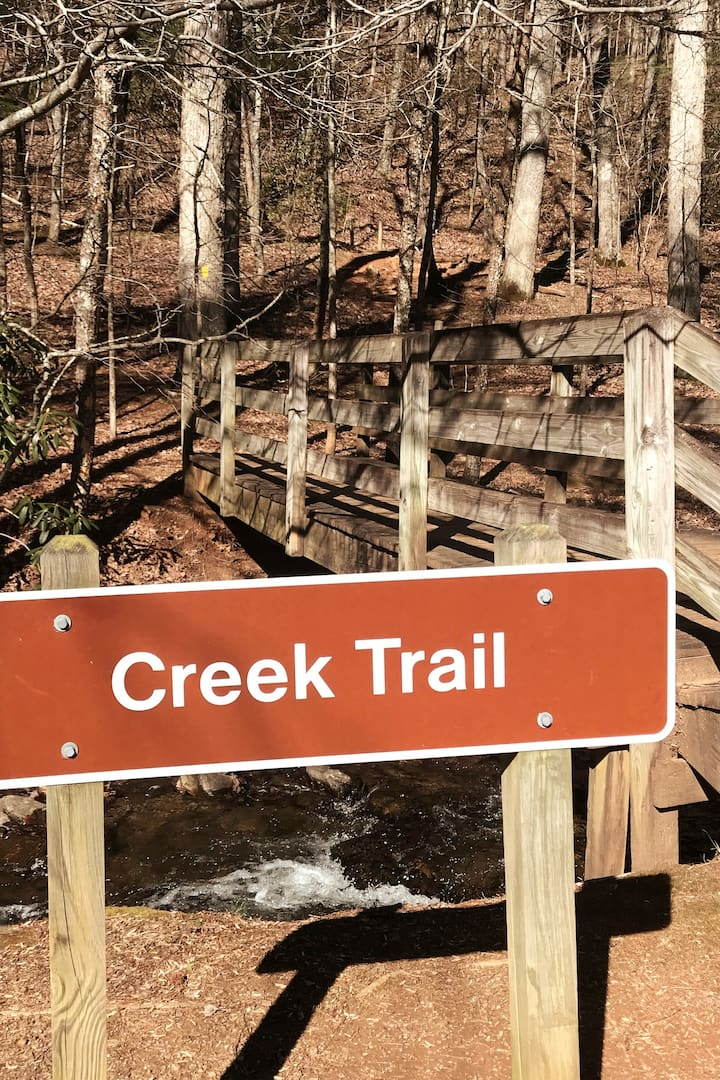 Our hike will begin on the Creek Trail