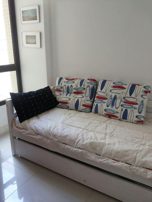 Room with bunk bed for 2 persons / Quarto com bicama para 2 pessoas