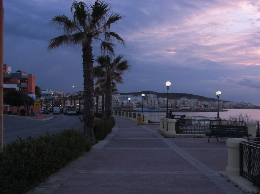 The Promenade on which the apartment is situated