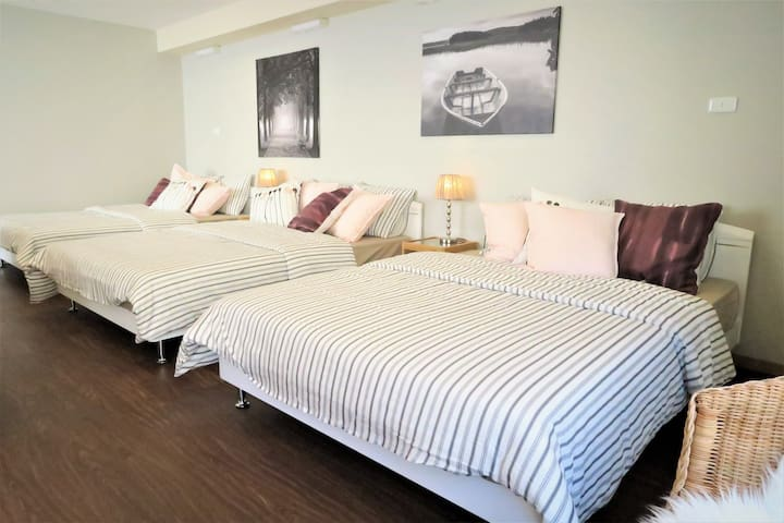 Comfortable 3 double beds
