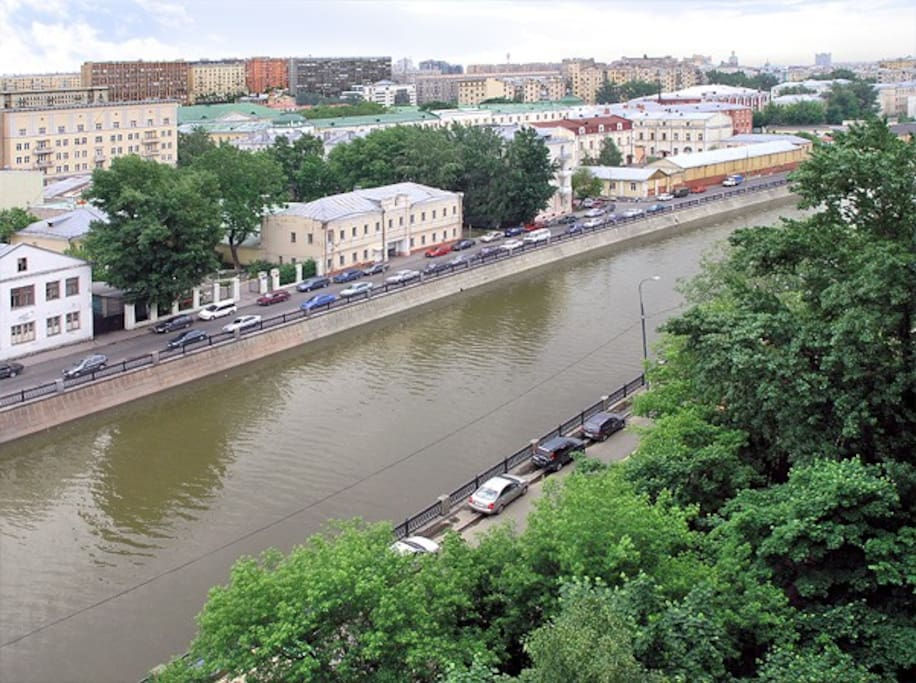 View out of the window - river Moscow