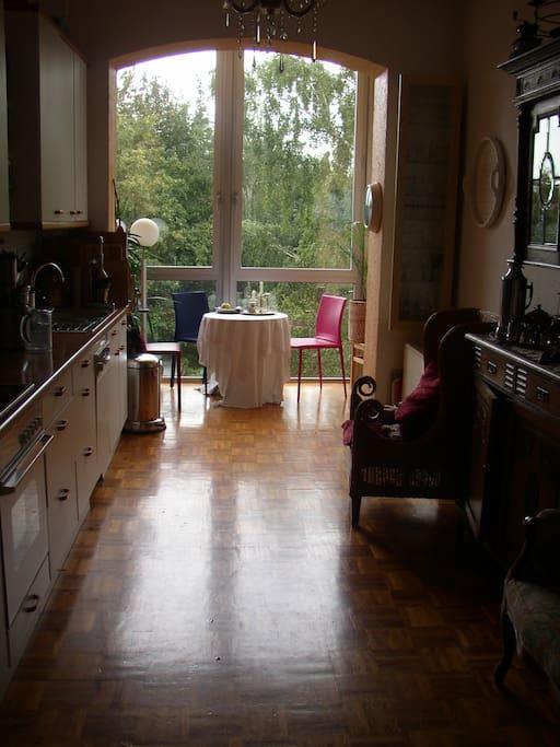 Küche mit Wintergarten