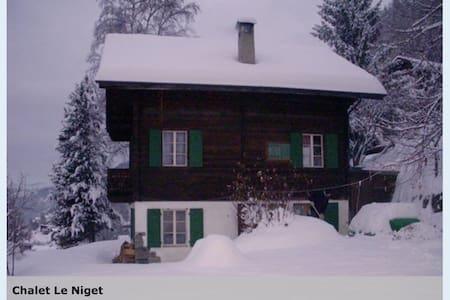 Beautiful Swiss ski chalet.  - Ayer - Dağ Evi