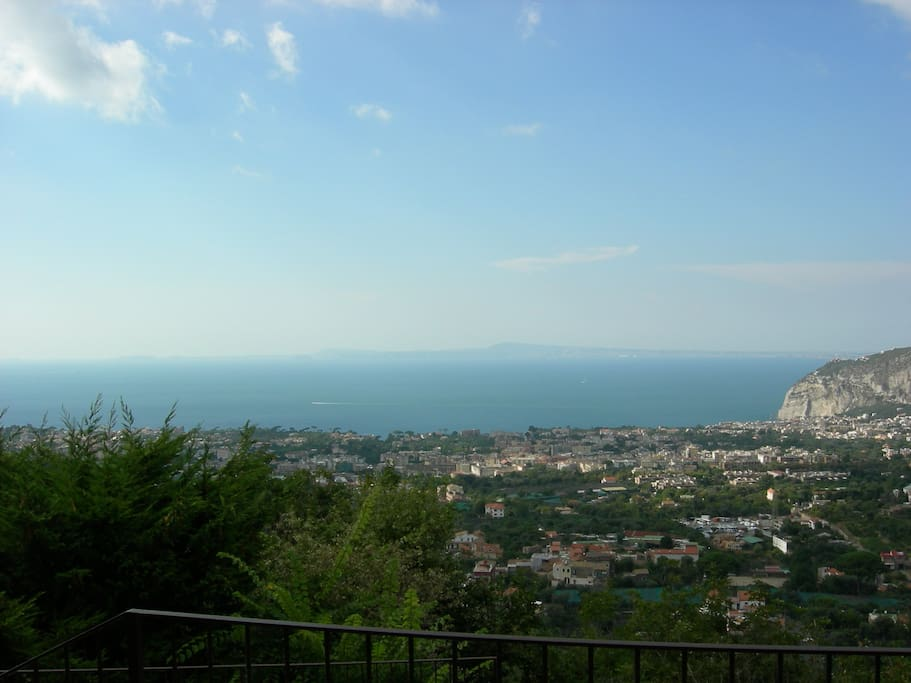 Panorama of the gulf of Naples