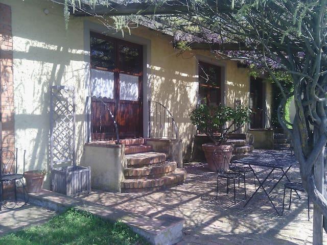 agriturismo bedroom with veranda