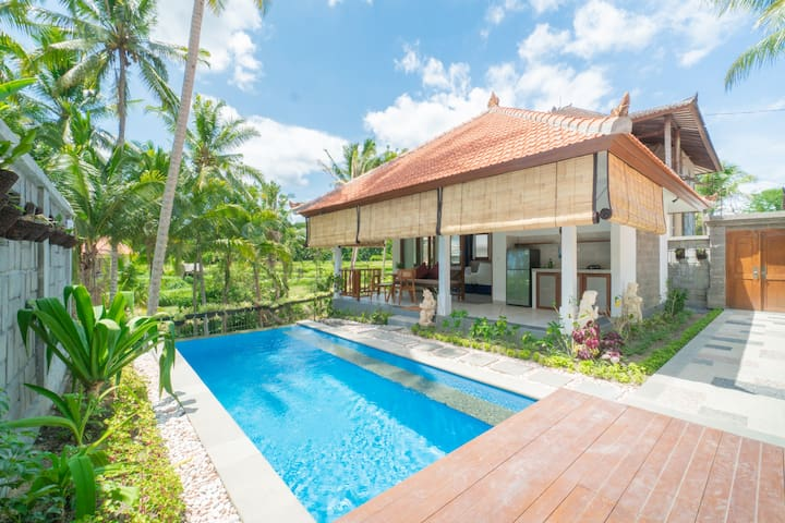 Find Your Bliss in Ubud Villa w/ Jungle View Pool