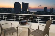 Our beautiful sunset view in the Balcony