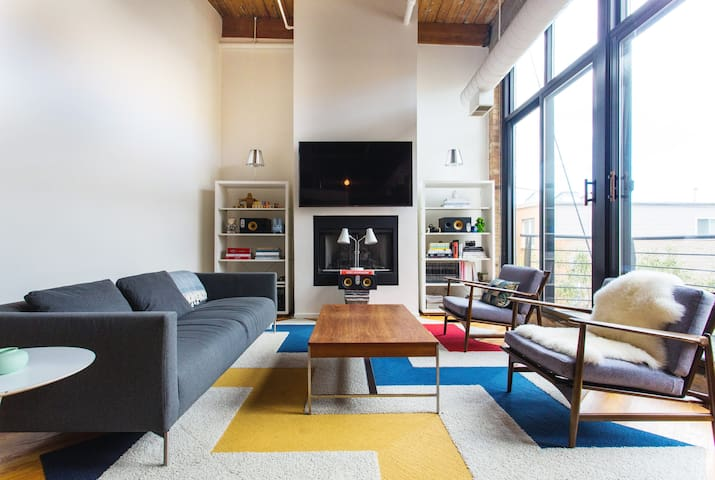 Relax in a Hip, Whimsical Loft