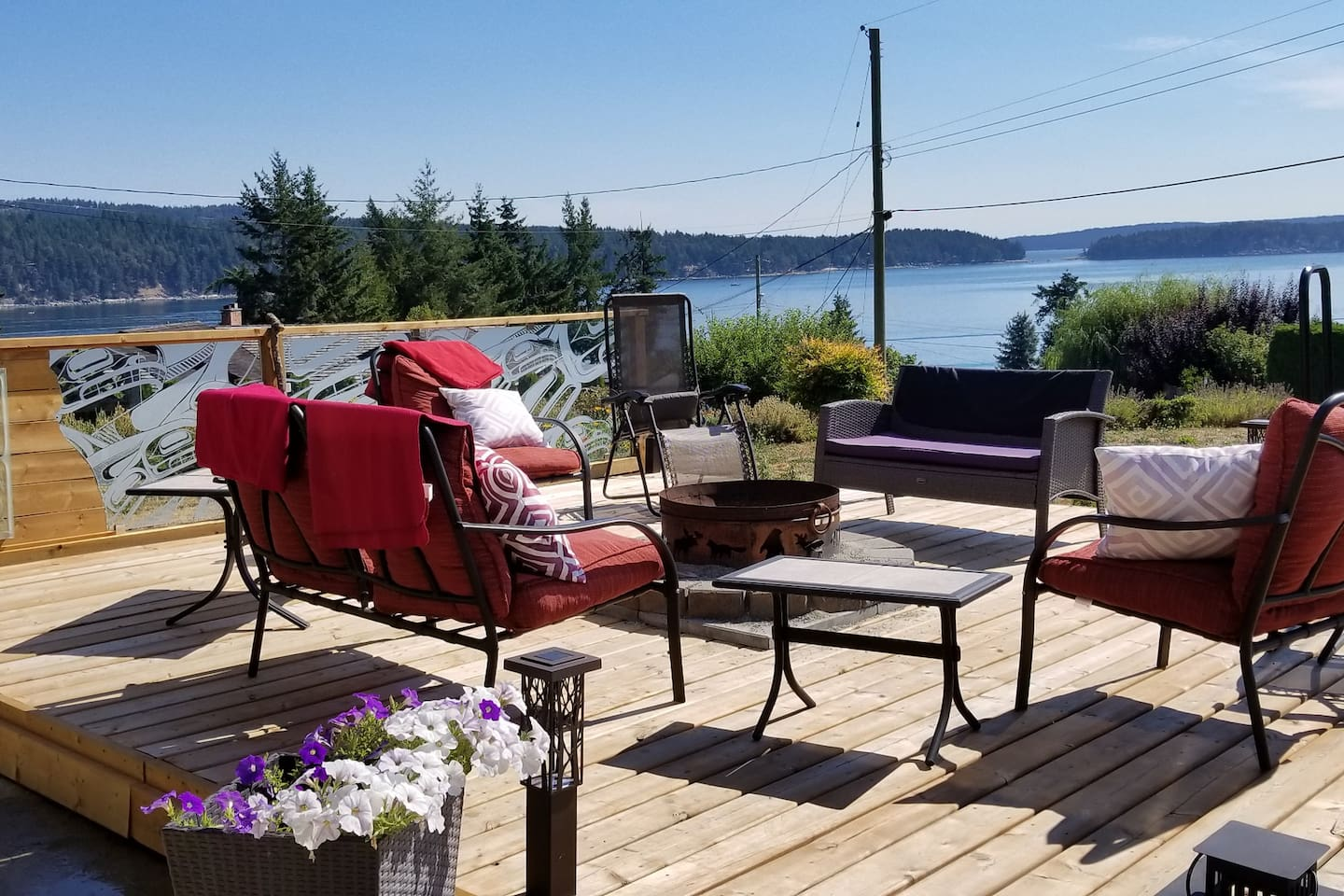 Just if you wanted to sit, relax, read or just take in the view from our front deck. (Fires allowed when permitted)