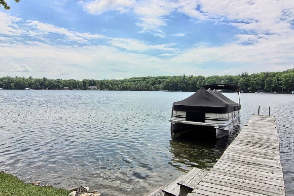 Swim, fish, and tie up your boat right from our permanent dock!