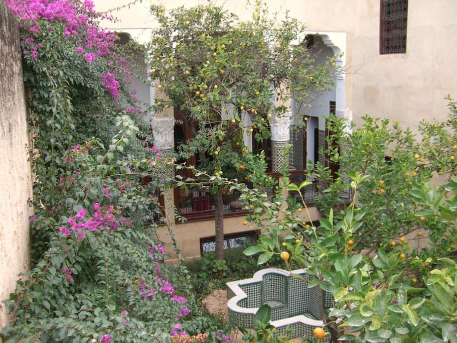 Riad lemon in fez like at home g steh user zur miete for Traditionelles haus bali