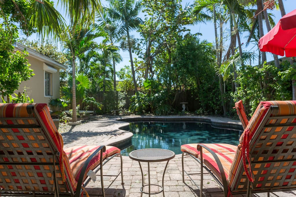 Bungalow Miami tropical miami bungalow with pool houses for rent in miami
