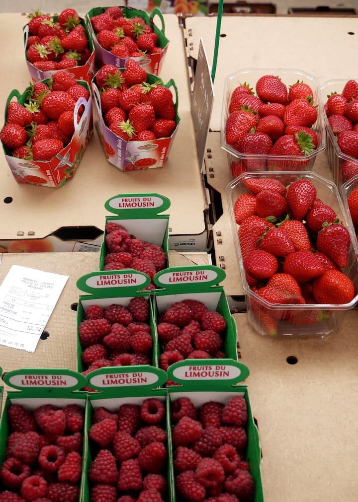 Summer fruits at the market