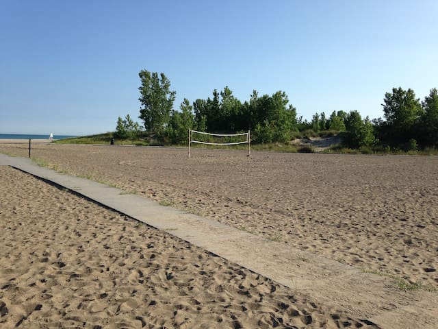 Volleyball courts at Walnut Beach