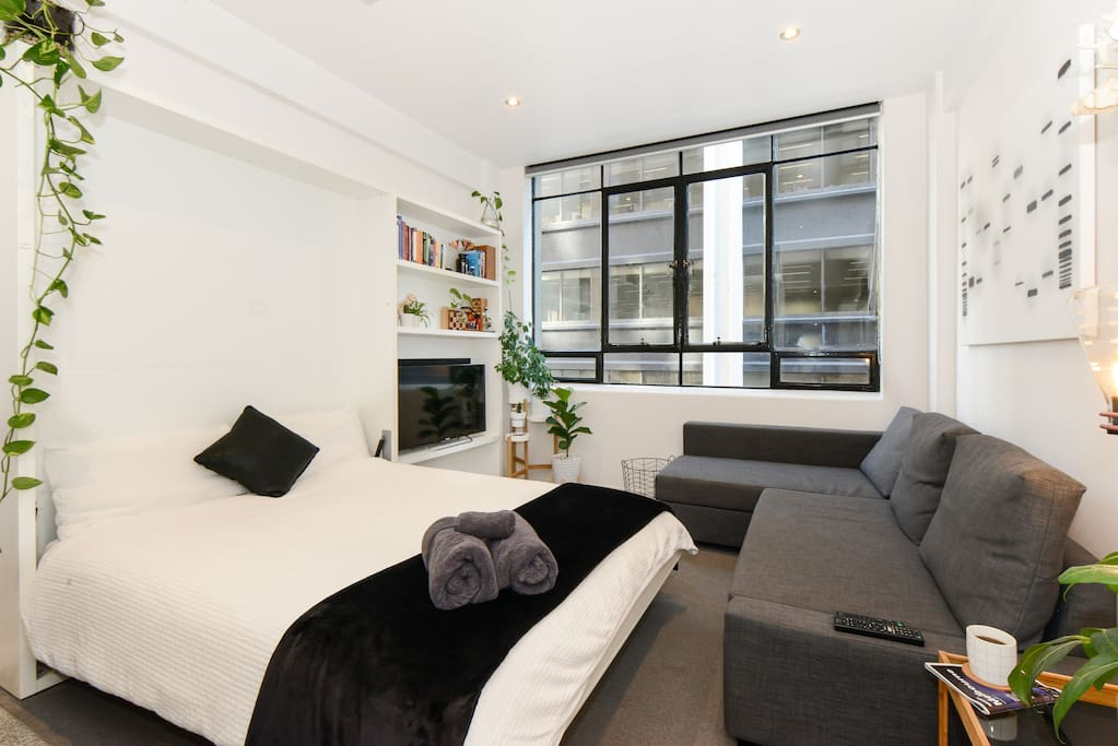 The space is cosy, but has been very well designed to maximise functionality.