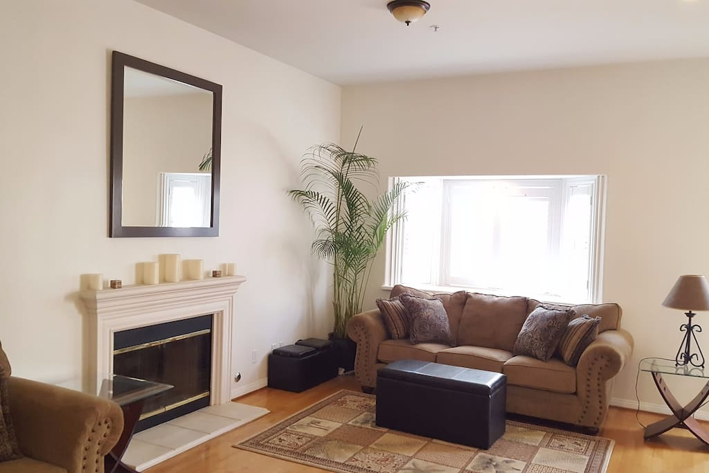 Formal Living Room with gas fire place.