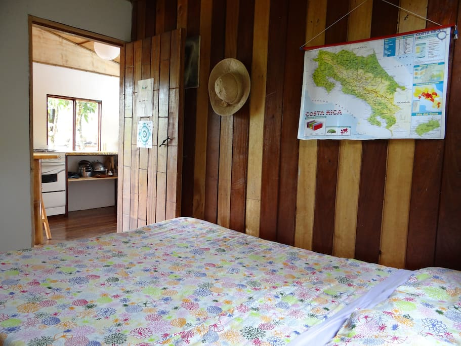 One of the 2 bedroom with a bed for 2 persons.